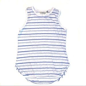 Athleta Sleeveless Tank Top Tunic Shirt Striped